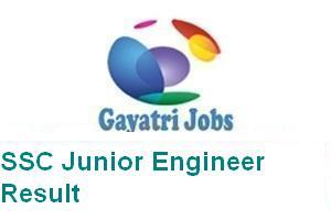 SSC Junior Engineer Result