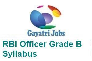 RBI Officer Grade B Syllabus