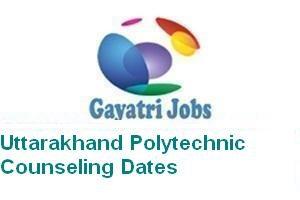 Uttarakhand Polytechnic Counseling Dates