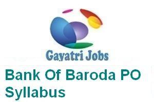 Bank Of Baroda PO Syllabus