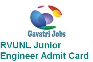 RVUNL Junior Engineer Admit Card