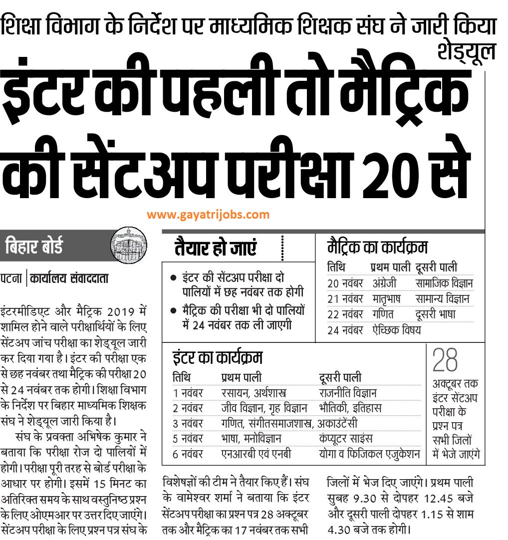 Bihar Board Result 2019 Announce Shortly of 10th 12th Standard