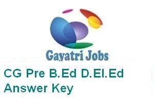 CG Pre B.Ed D.El.Ed Answer Key