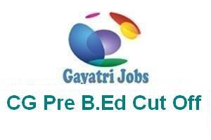CG Pre B.Ed Cut Off
