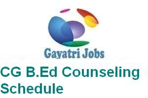 CG B.Ed Counseling Schedule