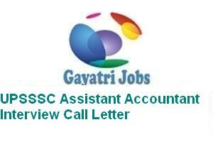 UPSSSC Assistant Accountant Interview Call Letter