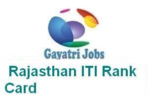 Rajasthan ITI Rank Card