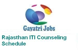 Rajasthan ITI Counseling Schedule