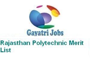 Rajasthan Polytechnic Merit List