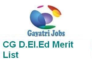 CG D.El.Ed Merit List