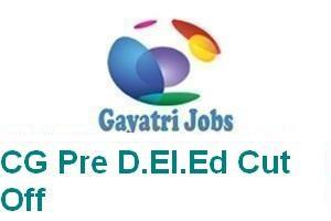 CG Pre D.El.Ed Cut Off
