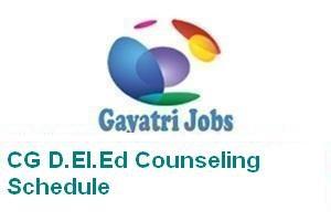 CG D.El.Ed Counseling Schedule