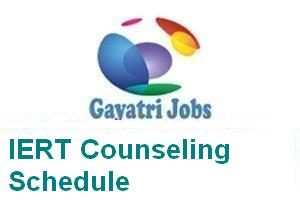 IERT Counseling Schedule