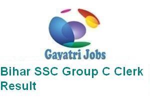 Bihar SSC Group C Clerk Result