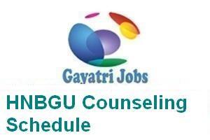 HNBGU Counseling Schedule