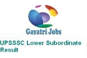 UPSSSC Lower Subordinate Result