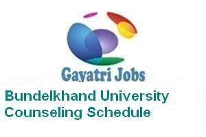 Bundelkhand University Counseling Schedule