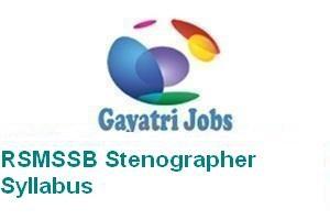 RSMSSB Stenographer Syllabus