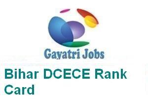 Bihar DCECE Rank Card