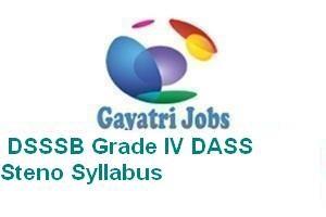SSB Grade IV DASS Steno Syllabus