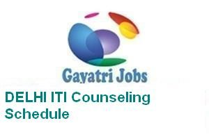 DELHI ITI Counseling Schedule