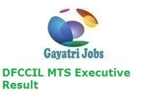 DFCCIL MTS Executive Result