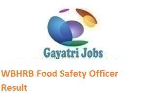 WBHRB Food Safety Officer Result