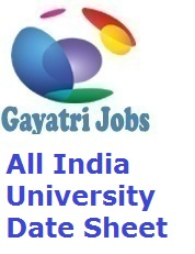 All India University Date Sheet