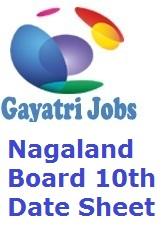 Nagaland Board 10th Date Sheet