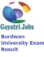 Burdwan University Exam Result