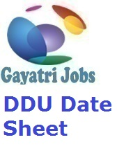 DDU Date Sheet