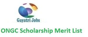 ONGC Scholarship Merit List