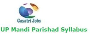 UP Mandi Parishad Syllabus