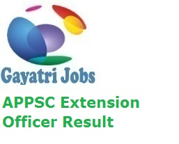APPSC Extension Officer Result