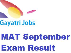 MAT September Exam Result