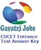 CUCET Entrance Test Answer Key 2019 Download Solution Pdf