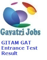 GITAM GAT Entrance Test Result 2019 Check at gat gitam edu