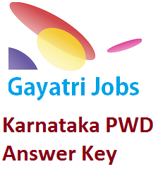 Karnataka PWD Answer Key 2019 Download Paper Solution PDF