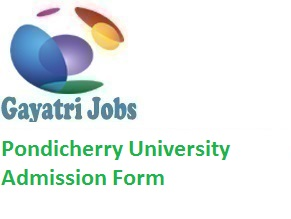 Pondicherry University Admission Form