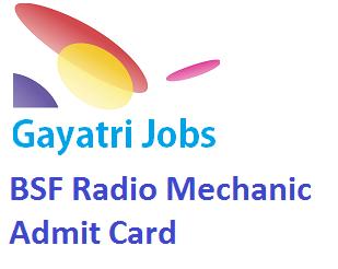 BSF Radio Mechanic Admit Card