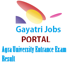 Agra University Entrance Exam Result 2019 Download Counseling Letter
