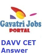 DAVV CET Answer key 2019 Download dauniv ac in Solution PDF
