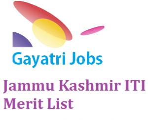 Jammu Kashmir ITI Merit List