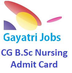 CG B Sc Nursing Admit Card 2019 Download, Exam Date- 16th June