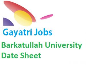 Barkatullah University Date Sheet
