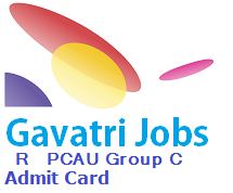 RPCAU Group C Admit Card