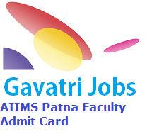 AIIMS Patna Faculty Admit Card