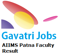 AIIMS Patna Faculty Result