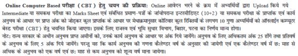Bihar Amin Admit Card